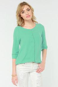It's A Breeze Mint Green Top at Lulus.com!