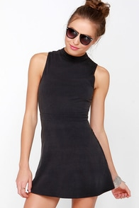 RVCA Early Brunch Washed Black Dress at Lulus.com!