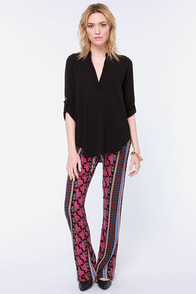 Volcom Love Sick Pink Print Pants
