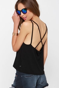 Obey Margeaux Black Tank Top at Lulus.com!