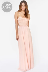 LULUS Exclusive The Prettiest Rose Light Pink Maxi Dress