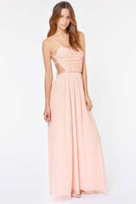 LULUS Exclusive The Prettiest Rose Light Pink Maxi Dress at Lulus.com!