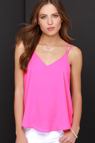 Fly By Birdie Hot Pink Tank Top at Lulus.com!