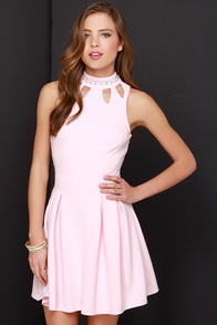 Jewel-House Rock Peach Rhinestone Dress at Lulus.com!