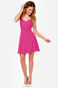 Summer Stroll Magenta Dress at Lulus.com!
