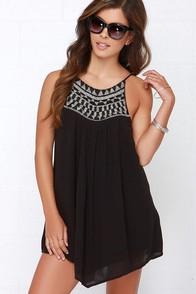 Amuse Society Marlowe Black Beaded Dress at Lulus.com!