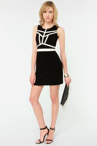 Gentle Fawn Empire Ivory and Black Dress at Lulus.com!