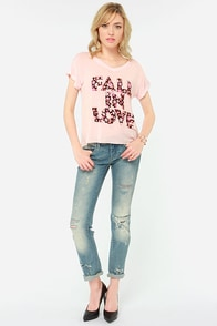 Element Eden Fall in Love Pink Tee at Lulus.com!