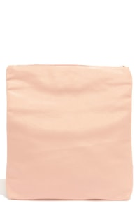 Roll Along Peach Clutch at Lulus.com!