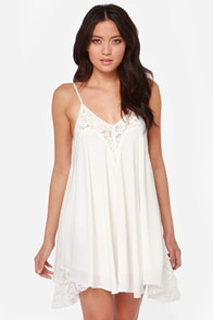 Laced Night Ivory Lace Dress