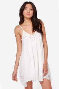 Laced Night Ivory Lace Dress at Lulus.com!