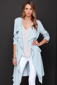 Chic My Mind Light Blue Coat at Lulus.com!