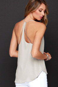 To a T Light Grey Top at Lulus.com!