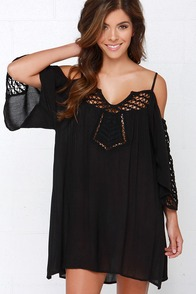 Amuse Society Lola Black Off-the-Shoulder Dress at Lulus.com!