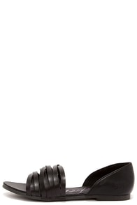 Blowfish Nadya Black Peep Toe Flats at Lulus.com!