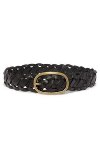 Twine-y Dancer Wide Black Leather Belt at Lulus.com!