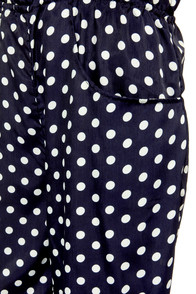 See Spot Stun Navy Blue Polka Dot Jumpsuit at Lulus.com!