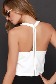 Race Ya Ivory Crop Top at Lulus.com!