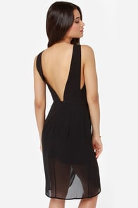 Finders Keepers Stranger In Paradise Black Dress at Lulus.com!