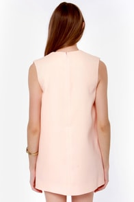 Finders Keepers Rising Sun Peach Shift Dress at Lulus.com!