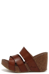 Blowfish Hiro Whiskey Brown Wedge Sandals at Lulus.com!
