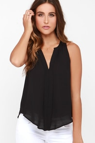 Top of the Hour Black Top at Lulus.com!