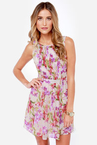 BB Dakota by Jack Abril Cream Floral Print Dress