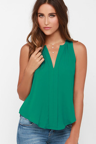 Top of the Hour Green Top at Lulus.com!