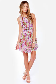 Jack by BB Dakota Abril Cream Floral Print Dress at Lulus.com!