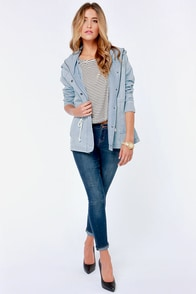 BB Dakota By Jack Bregan Chambray Jacket at Lulus.com!