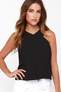Lady of the Shade Sleeveless Black Top at Lulus.com!