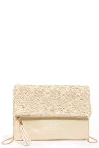 Crocheted For Each Other Cream Lace Clutch at Lulus.com!