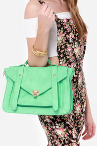 Style For Miles Mint Green Handbag at Lulus.com!