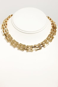 Hinge Benefits Gold Chain Necklace at Lulus.com!