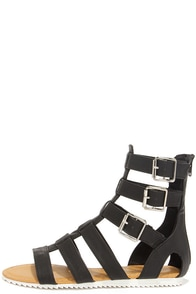 Gait Keeper Black Gladiator Sandals at Lulus.com!