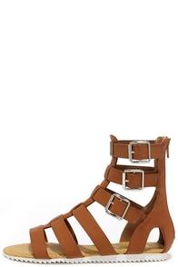 Gait Keeper Tan Gladiator Sandals at Lulus.com!