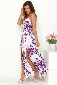 Somedays Lovin' Lonely Ivory Floral Print Maxi Dress at Lulus.com!