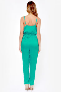 Let it Linger Teal Jumpsuit at Lulus.com!