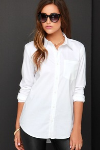 Pretty on Fleek Ivory Button-Up Top at Lulus.com!