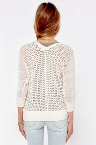 Roxy Turnstone Cream Cardigan Sweater at Lulus.com!