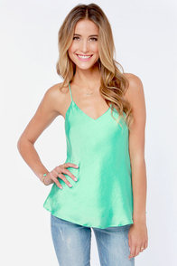 Just My Luxe Mint Green Tank Top
