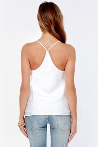 Just My Luxe Ivory Tank Top at Lulus.com!