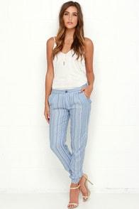 RVCA Transplant Periwinkle Print Pants at Lulus.com!