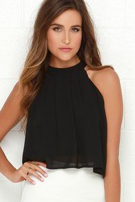 Legend Has It Black Crop Top at Lulus.com!