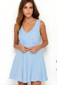 Heaven's Adore Light Blue Backless Dress at Lulus.com!