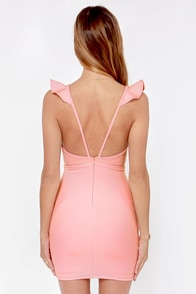 Everyday I'm Rufflin' Light Pink Bodycon Dress at Lulus.com!