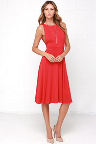 Laissez Flair Red Midi Dress at Lulus.com!