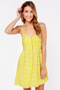 Roxy Shore Thing Yellow Print Dress at Lulus.com!