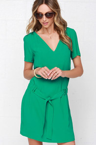 Shamrock Shimmy Green Short Sleeve Dress at Lulus.com!