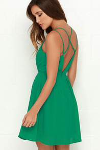 Crisscross Country Green Dress at Lulus.com!